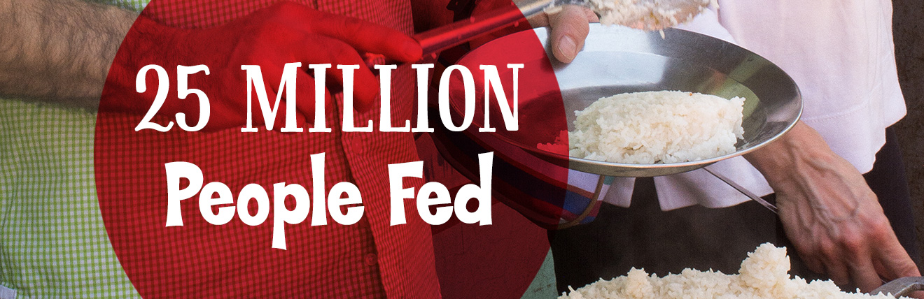 14 Million People Fed Every Year